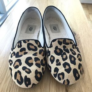 Uggs leopard print loafers